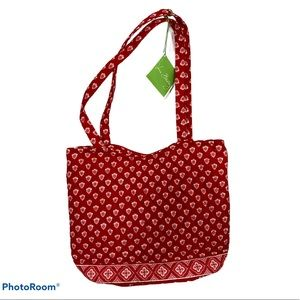 Vera Bradley NANTUCKET RED Bucket Tote Bag NWT